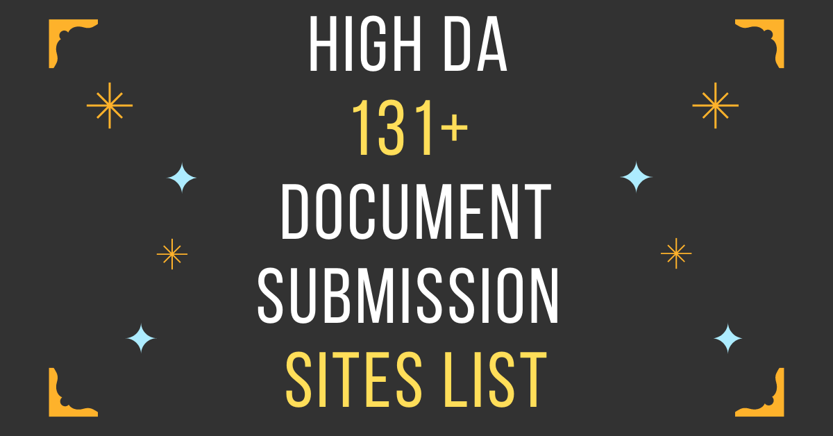 Free-Document-Submission-Sites-List